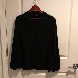 ASOS Viscose Button-Down Shirt w/ Low Collar
